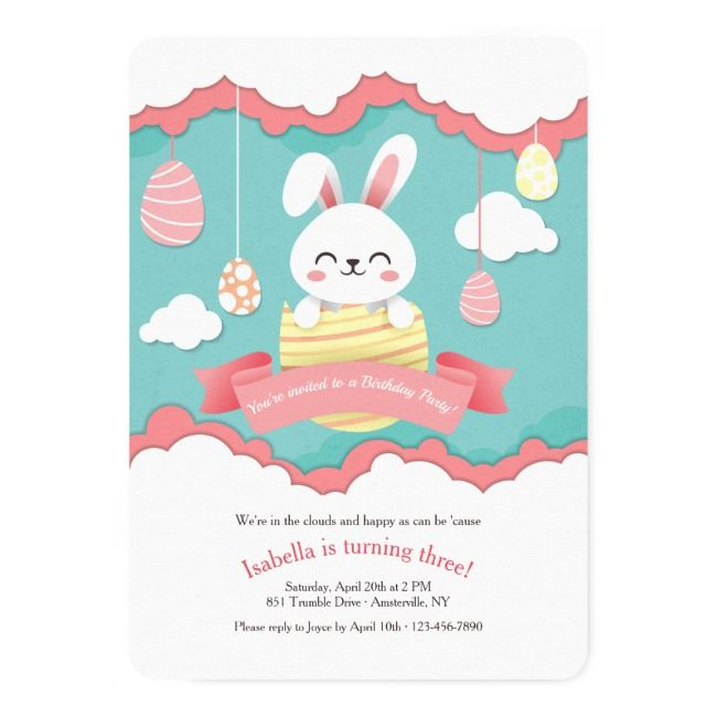 Create your own Invitation -   18 holiday Easter baby shower ideas