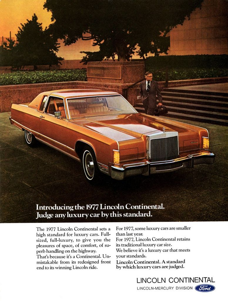 1977 lincoln continental town coupe lincoln continental rvinyl