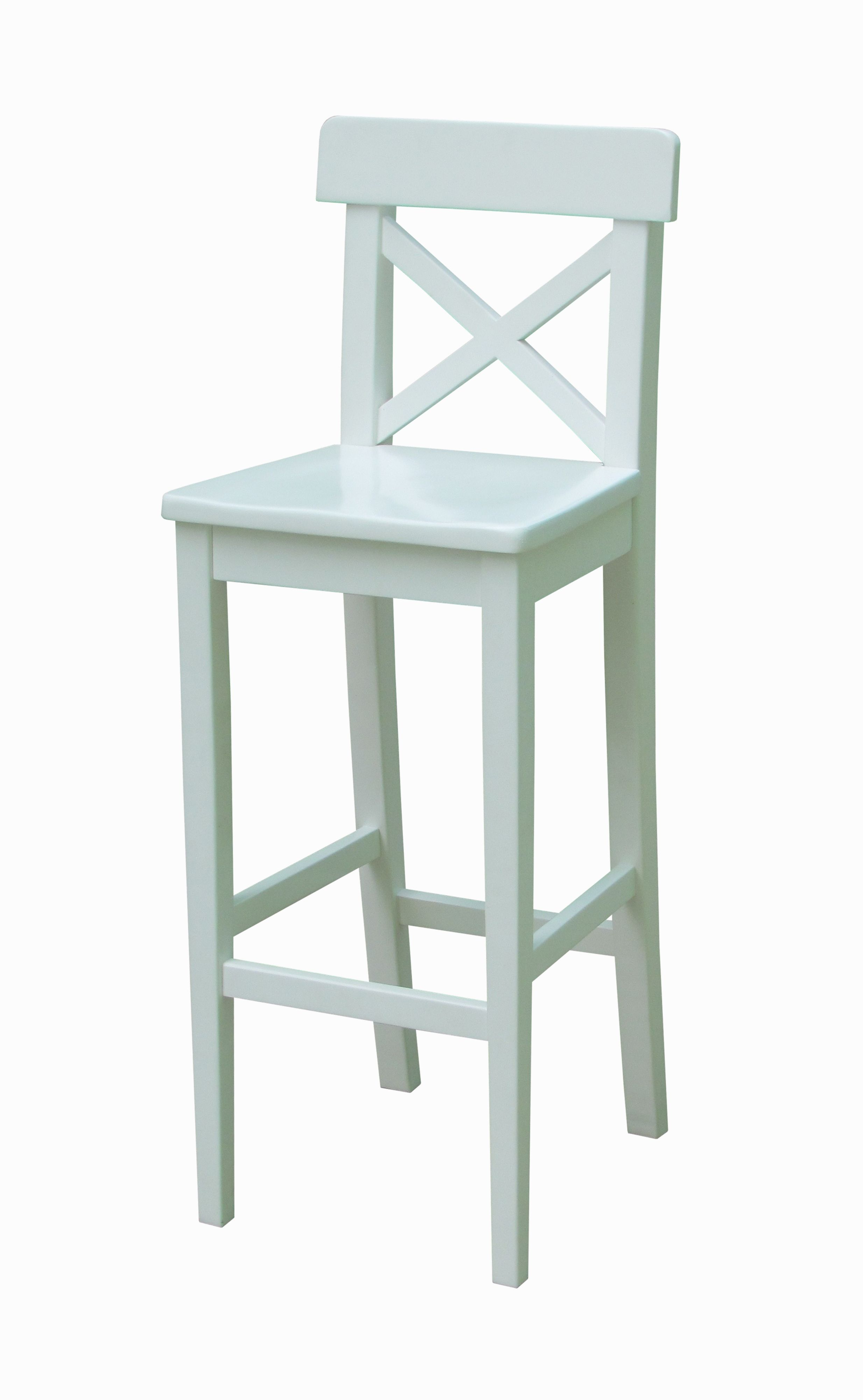 check out b6bd3 1aa5e Guildford White Bar Stool (H)1110 mm (W)390 mm   Departments ...