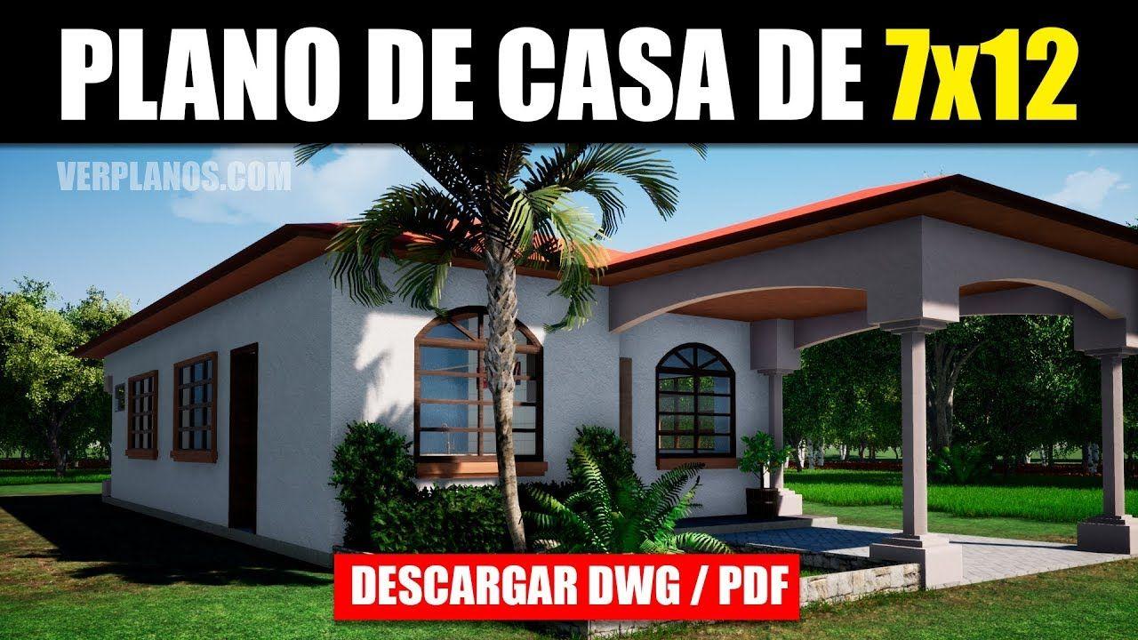 Plano De Casa Gratis 3 Dormitorios 2 Banos Dwg Pdf Youtube En 2020 Planos De Casas Planos De Casas Economicas Planos De Casas Prefabricadas
