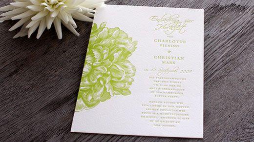 Hochzeitskarten Set Flowergarden Von Honeybird Einladungskarte Mit