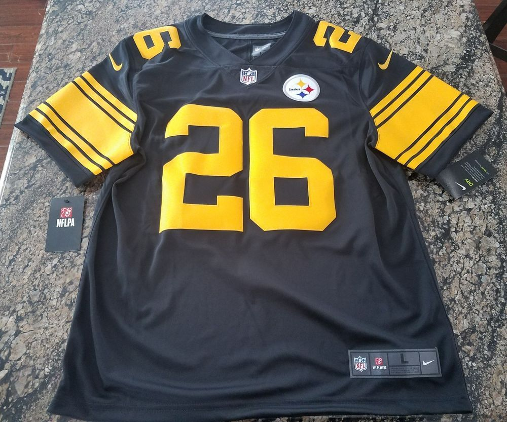 58ea34ef64e NFL PITTSBURGH STEELERS COLOR RUSH STITCHED JERSEY 819066-011 Le Veon Bell  Sz L  Nike  PittsburghSteelers