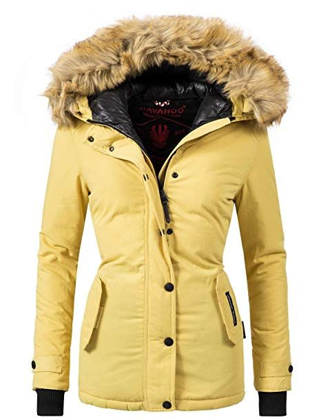 Navahoo Damen Winter Jacke Winterparka Laura 10 Farben XS