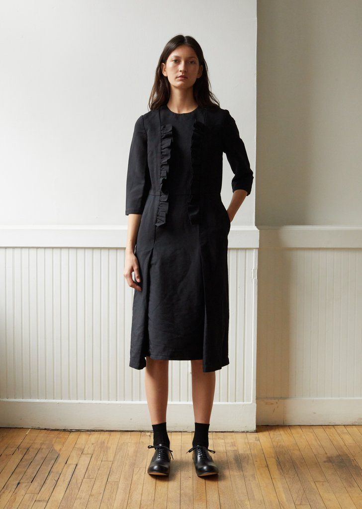 Polyester Double Cloth Twill Garment Treated Dress-Small / Black 15