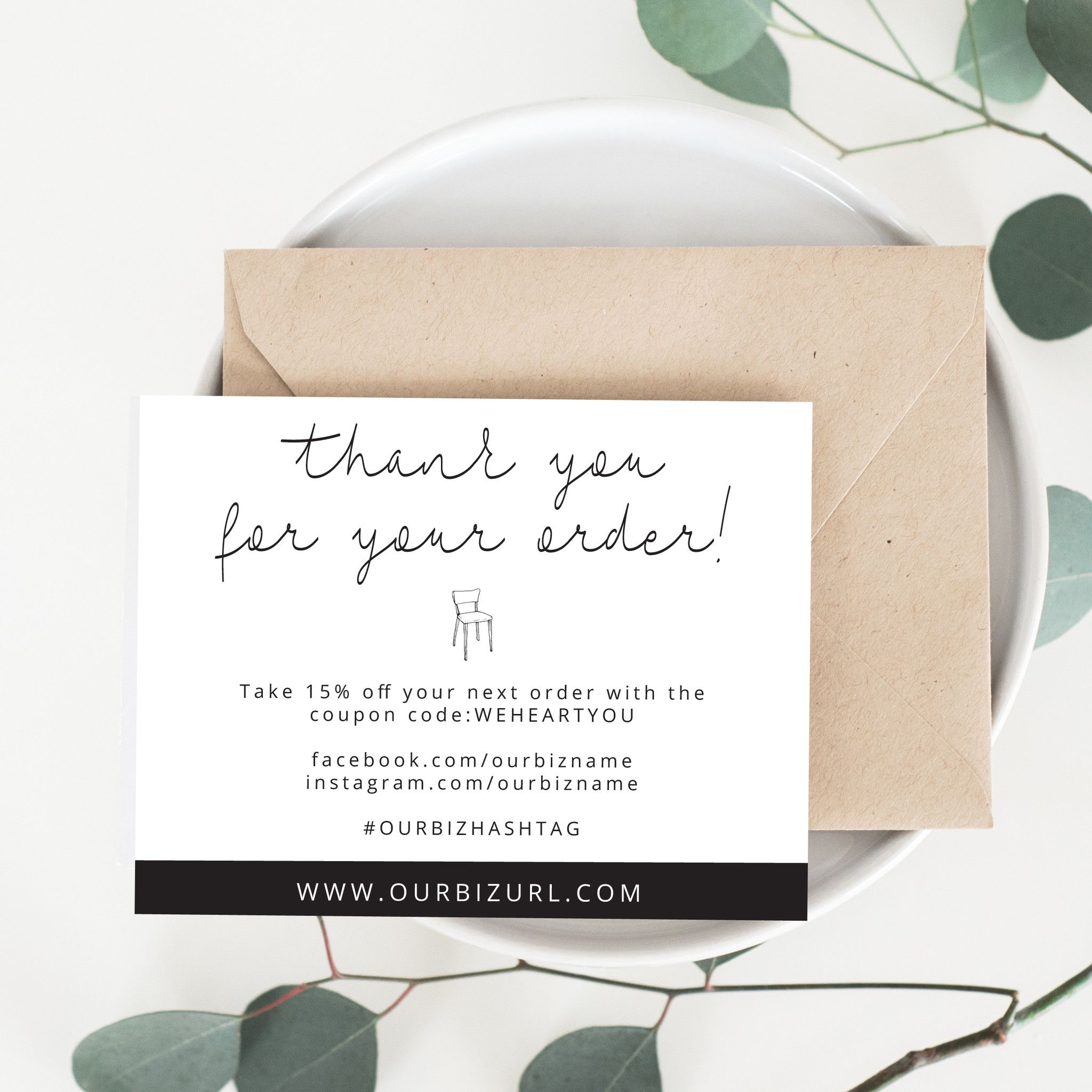 Printable Business Thank You Cards Template | Mila | Etsy ...