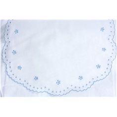 Sabanita BODOQUES+FLOR  bordado en azul celeste