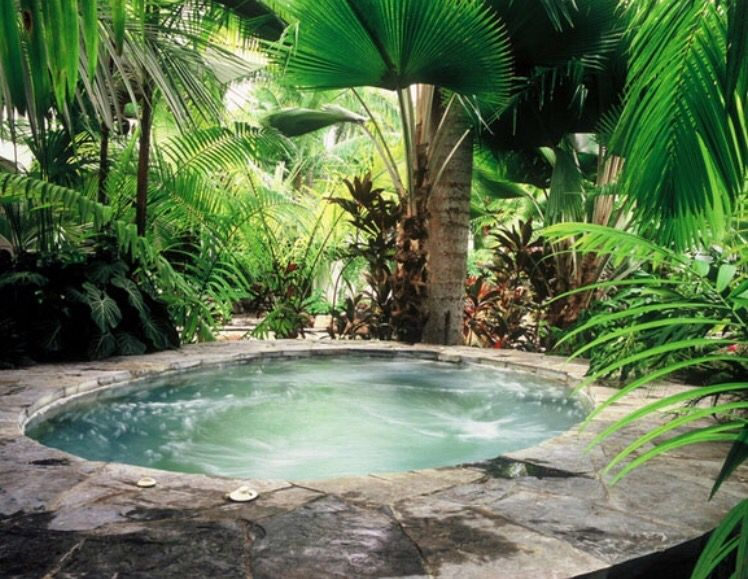 This Jungle hot tub, looks so cool. Want to see how to ...