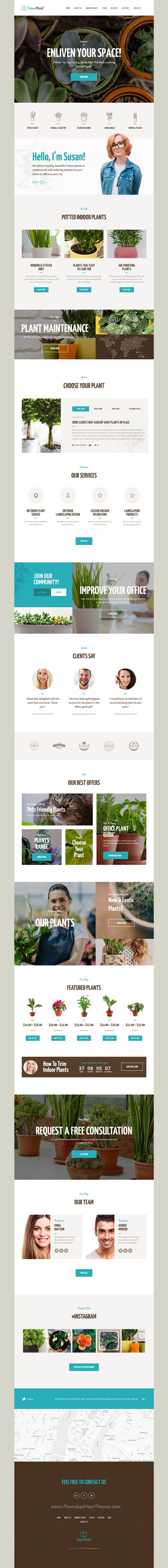 Indoor Plants | Gardening & Houseplants WordPress Theme | Pinterest