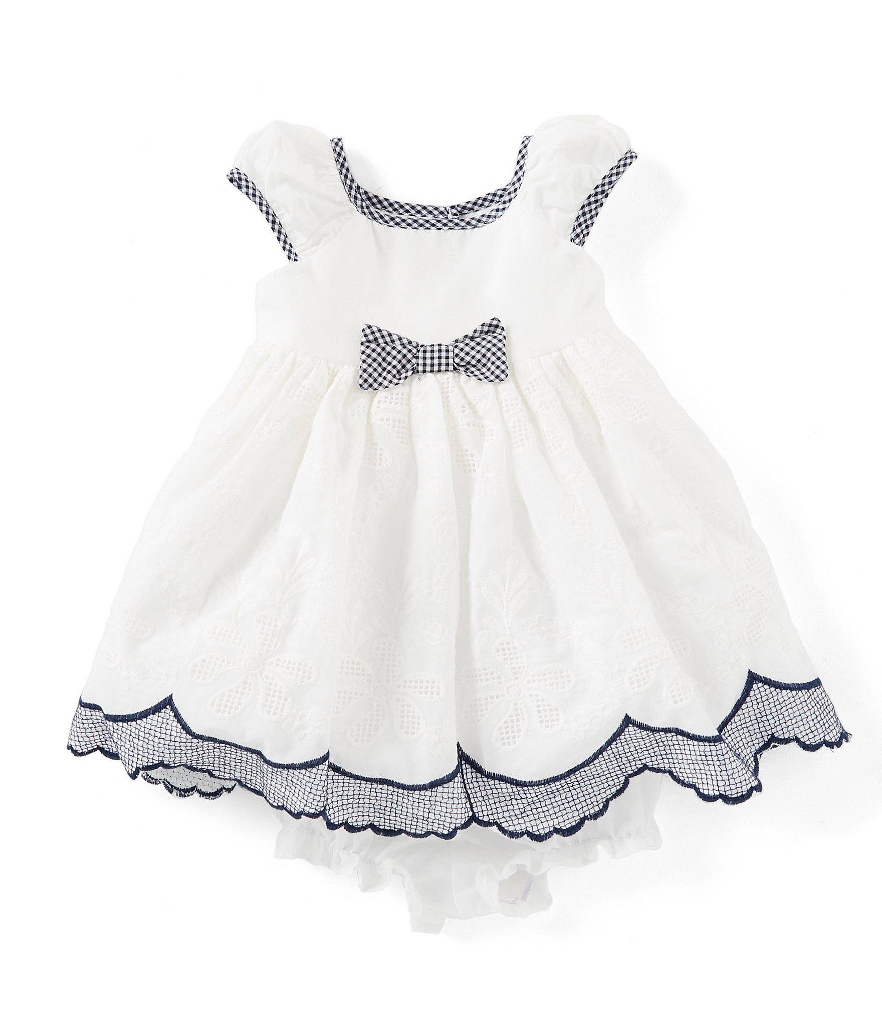 818a283f7 Laura Ashley Baby Girls Newborn-24 Months Bow-Accented Fit-And-Flare ...