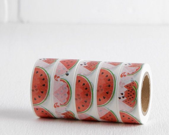 Hey, I found this really awesome Etsy listing at https://www.etsy.com/listing/263207637/summer-watermelon-washi-tape-with-red