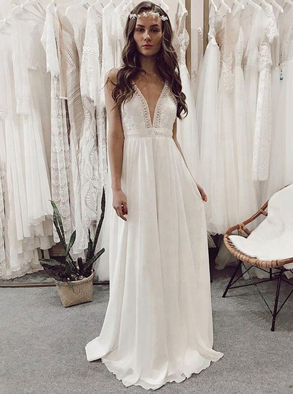 7 Prodigious Simple Wedding Dress Lace Fitted Jolting Ideas In 2021 Chiffon Wedding Dress Beach Wedding Dresses Vintage Lace Sleeves Beach Wedding Dress Boho [ 1280 x 953 Pixel ]