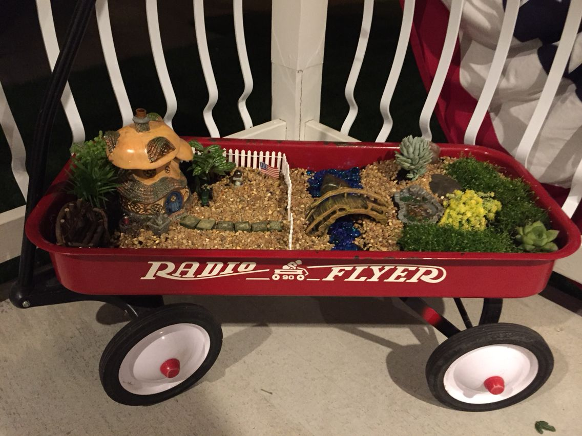 DIY: fairy garden in a wagon   I love gardening!!!!   Pinterest ...