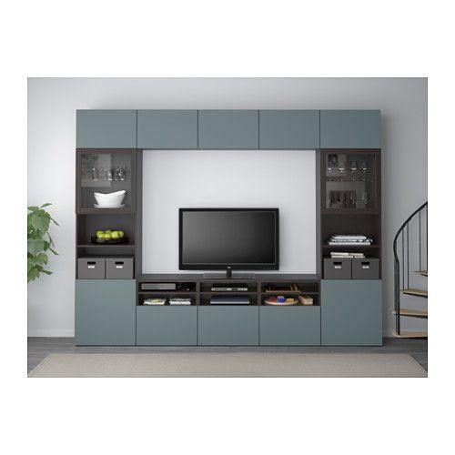 Superieur BESTÅ TV Storage Combination/glass Doors   Black Brown/Valviken  Gray Turquoise