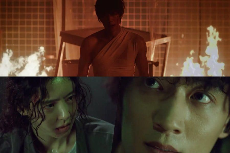 """Watch: Kim Rae Won And Lee Da Hee Lean On Each Other During Intense Battle In """"L.U.C.A.: The Beginning"""" Teaser"""