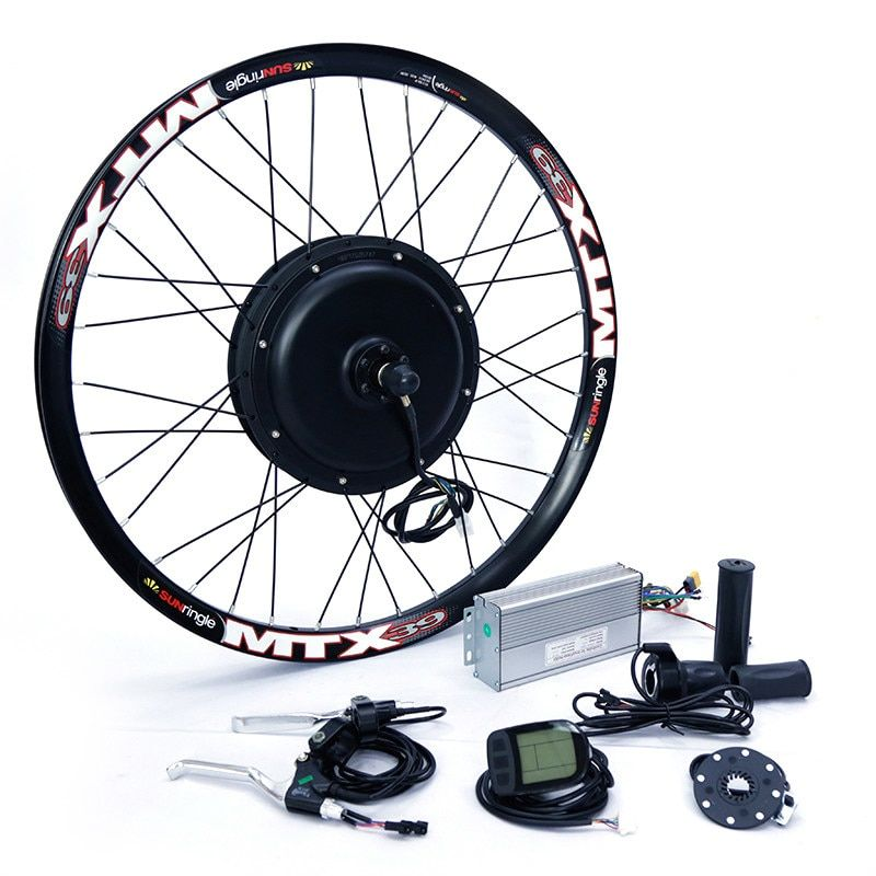 Front Or Rear Motor 65km H 48v 1500w Electric Bike Conversion Kit For 20 24 26 28 700c E Bike Motor E Bike E Bike Selber Bauen