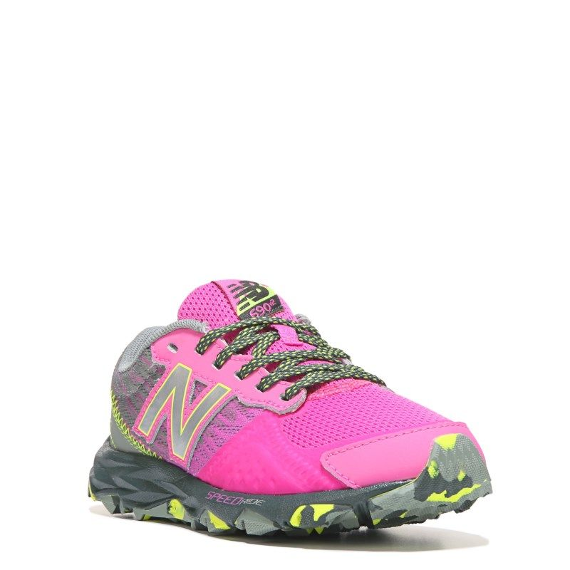 New Balance Kids' 690 V2 Medium/Wide Trail Running Shoe Pre/Grade School  Shoes (Pink/Grey)