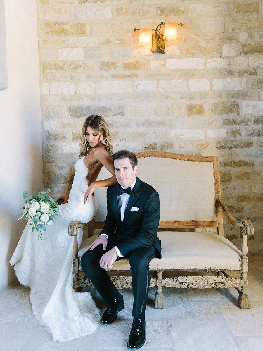 Intimate summer sunstone villa wedding tangled floral designs and