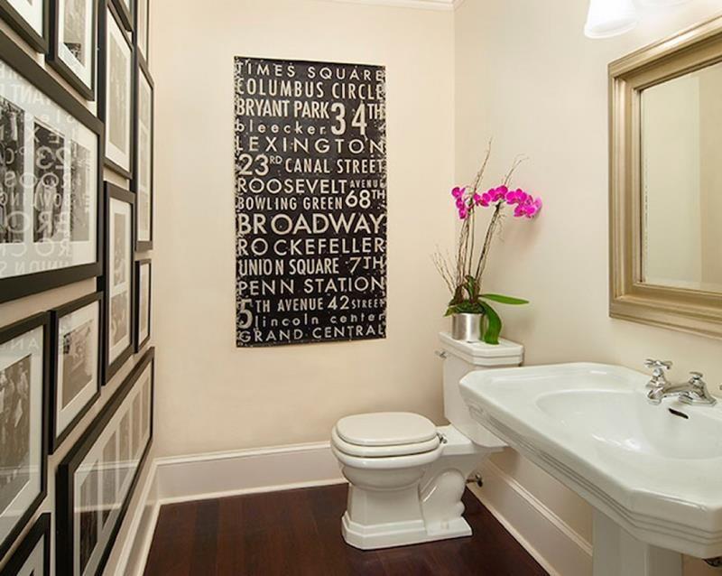 Pin By Stephanie Rasley On Bathroom Design Powder Room Decor Bathroom Gallery Wall Bathroom Wall Decor
