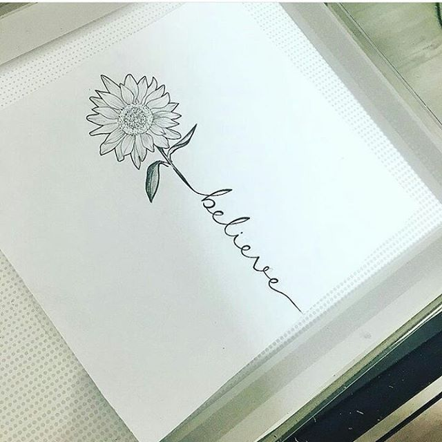 "Diana Moreno on Instagram: ""My next tat i think soo :D #favoriteflower #sunflower #tattoo #believe"""