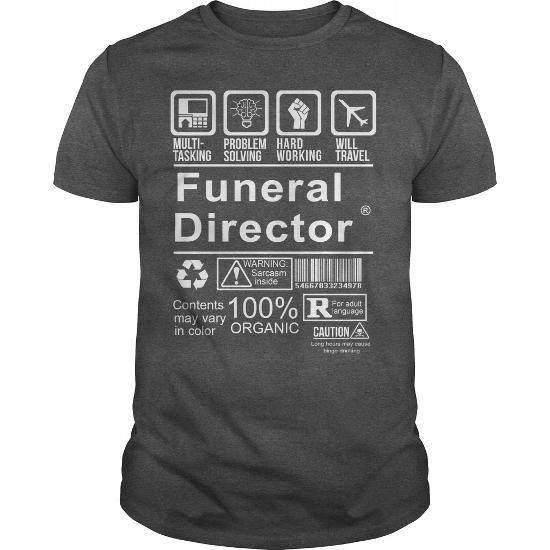 I Love FUNERAL DIRECTOR - CERTIFIED JOB T-Shirt Job List 2 T-shirt