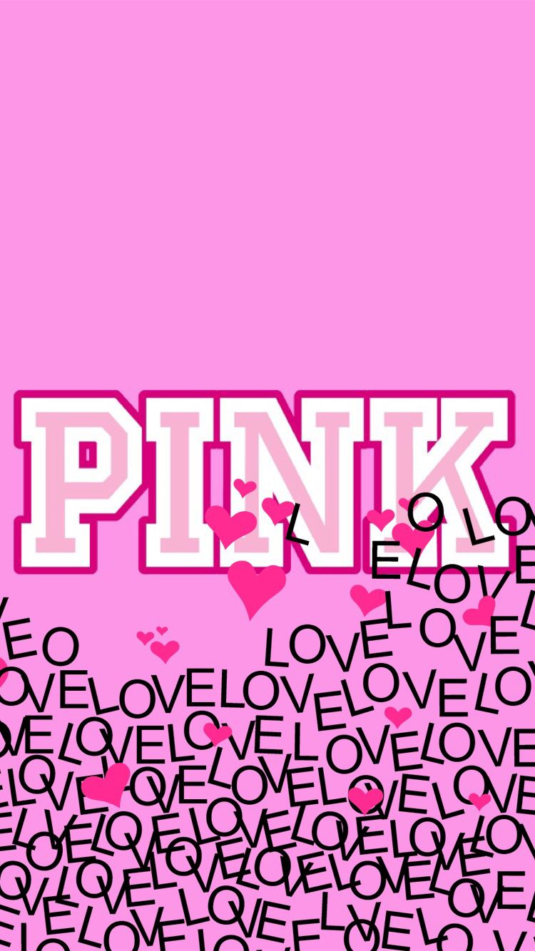 Pink Love ヴィクトリアシークレット 壁紙 イラスト