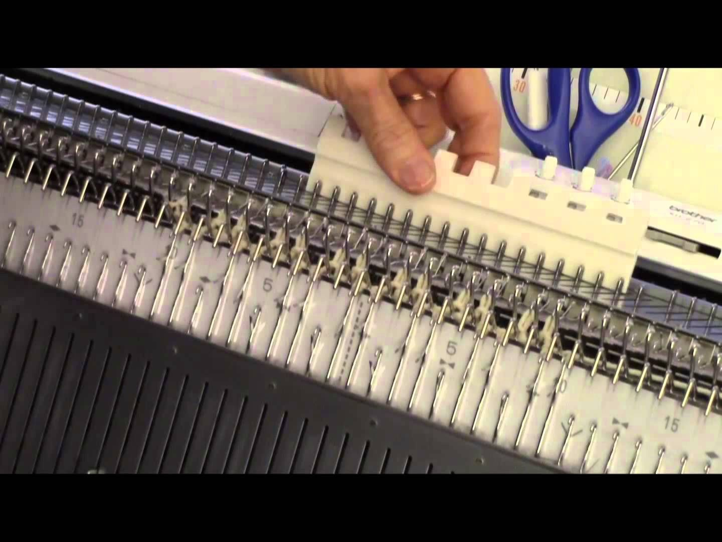 Machine knit a fascinating drop lace stitch on your Japanese machine ...