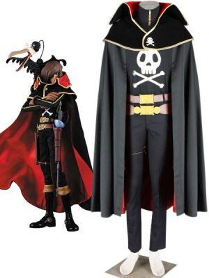 Captain Harlock in The Galaxy Express 999 Costume for Cosplay