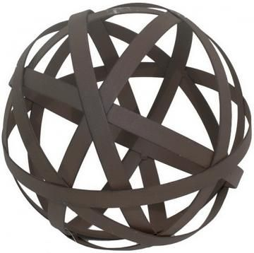 Add A Little Interest To Your Coffee Table With Metal Orb Homedecorators