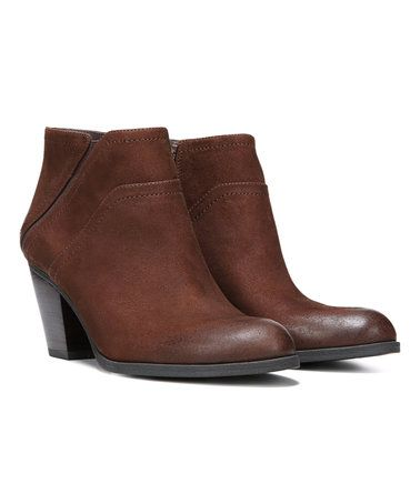Love this Tan Domino Leather Bootie on #zulily! #zulilyfinds