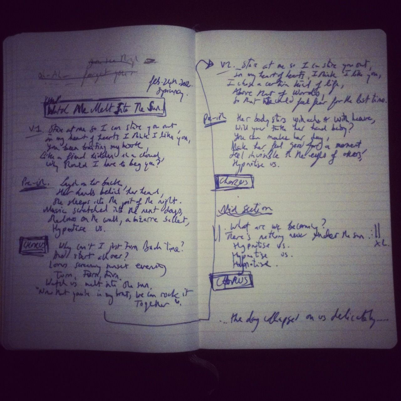 stopped songwriting a while back. i have about 5 books and