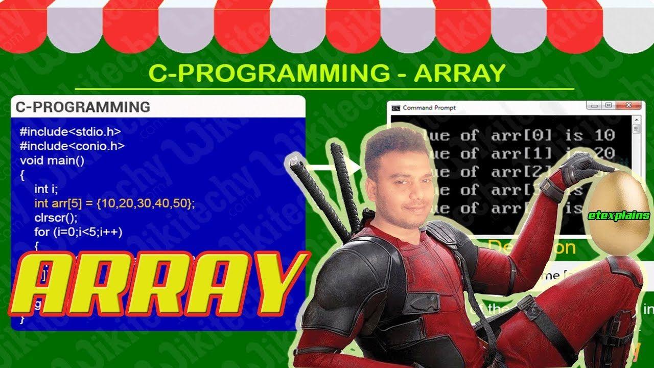 C Programmming Tutorial Arrays Practice Question