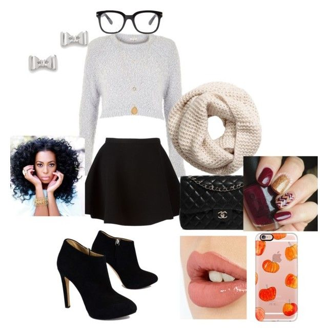"""""""Fall lunch with the girls"""" by msvolleyball3241 ❤ liked on Polyvore featuring River Island, Neil Barrett, Charlotte Tilbury, Forever 21, Giuseppe Zanotti, Chanel, H&M, Marc by Marc Jacobs and Casetify"""