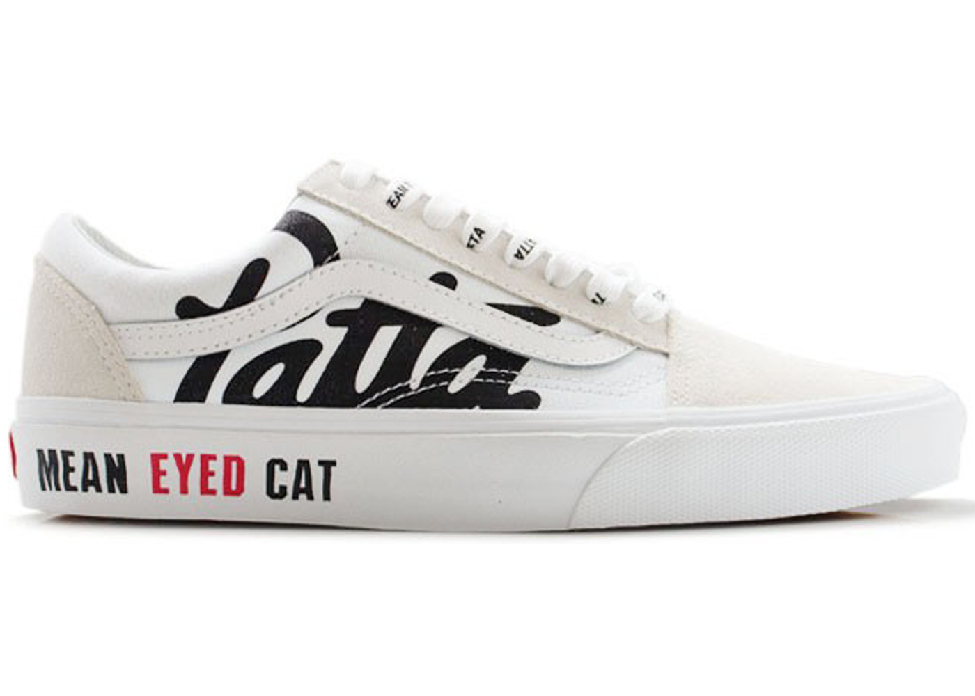 Vans Old Skool Patta Mean Eyed Cat White in 2019  7f844a528