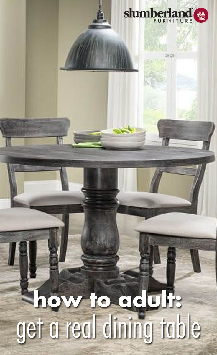 How To Adult Get A Real Dining Table Seteatrepeat Pinterest Brilliant Slumberland Dining Room Sets Review
