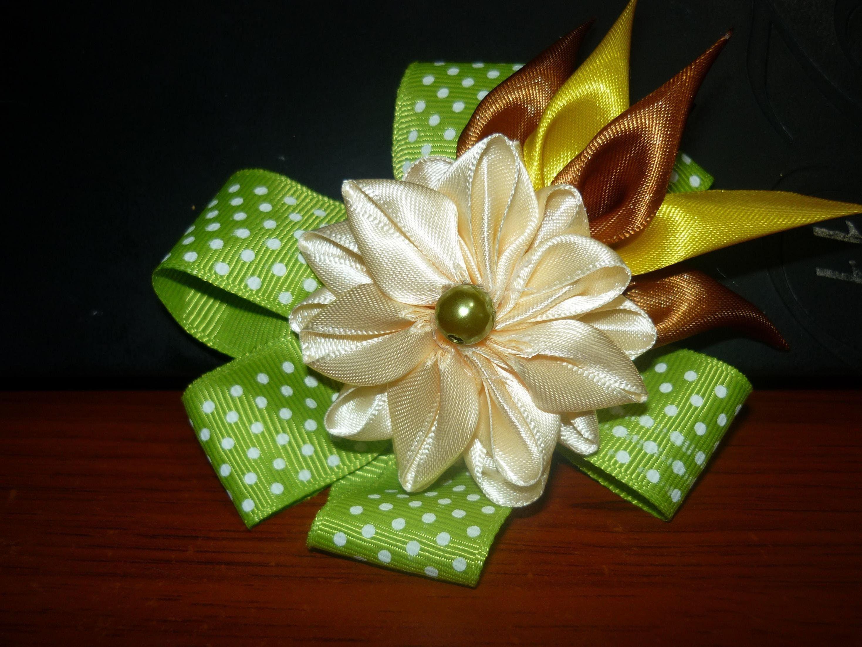 Mo Os Decorados Con Flores Kanzashi Faciles No 098 Manualidades La  ~ Lazos De Cinta De Raso Paso A Paso