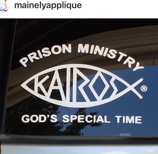 Licensed Kairos Prison Ministry Car Window Decal | Kairos
