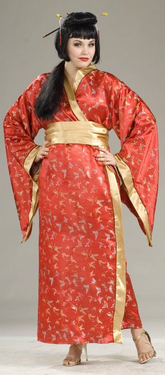 2e078be0363fe Plus Size Deluxe Madame Butterfly Costume - Candy Apple Costumes - Asian  Costumes