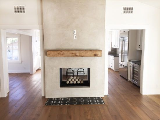 Double sided fireplace gray stucco rough hewn rustic mantel double sided fireplace gray stucco rough hewn rustic mantel cement tile hearth solutioingenieria Choice Image