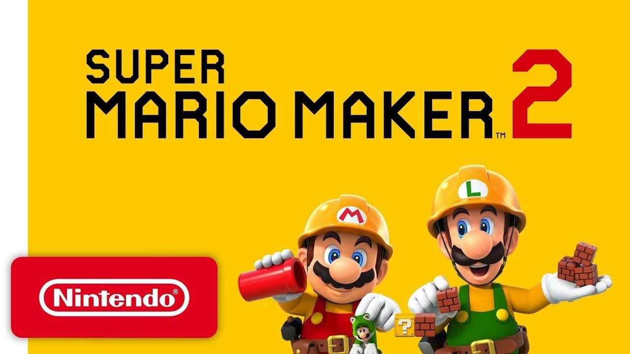 Super Mario Maker 2 Announcement Trailer Nintendo Switch Youtube Marvel Ultimate Alliance 3 Jogo Do Mario Super Mario