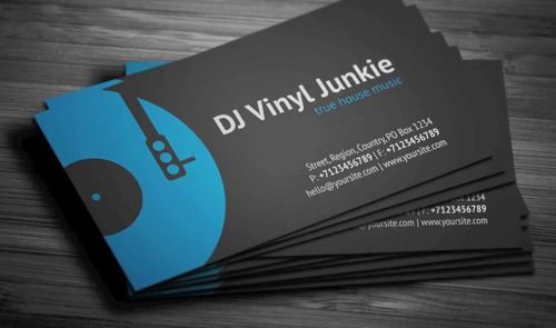 Vinyl DJ Business Card Businesscards Music Psdtemplates Djbusinesscards Cartes De Visite Dj