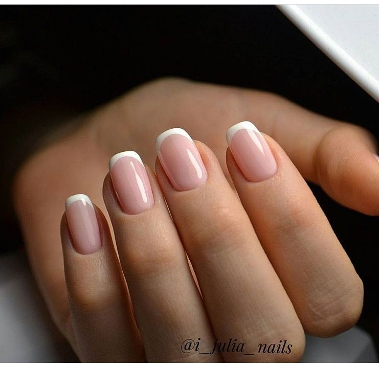French Tip Manicure Shiny