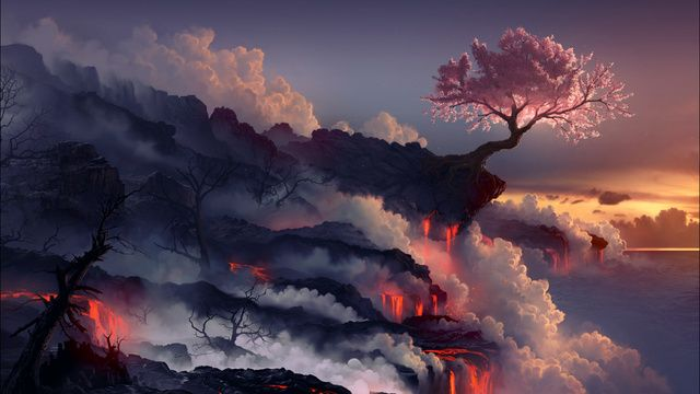 10 Science Experiments That Looked Like The End Of The World Landscape Wallpaper Fantasy Landscape Volcano Wallpaper