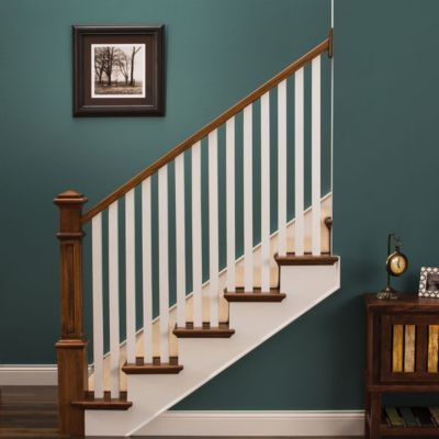 Best A Craftsman Style Staircase In Natural Wood And White Wood 400 x 300