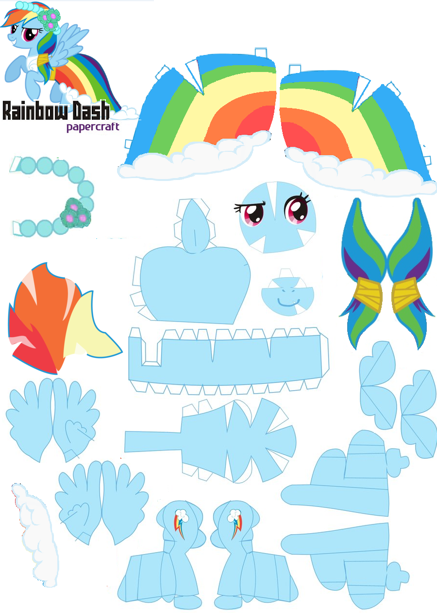 Papercraft Rainbow Dash Royal Wedding By Oskarek11 Deviantart Com On