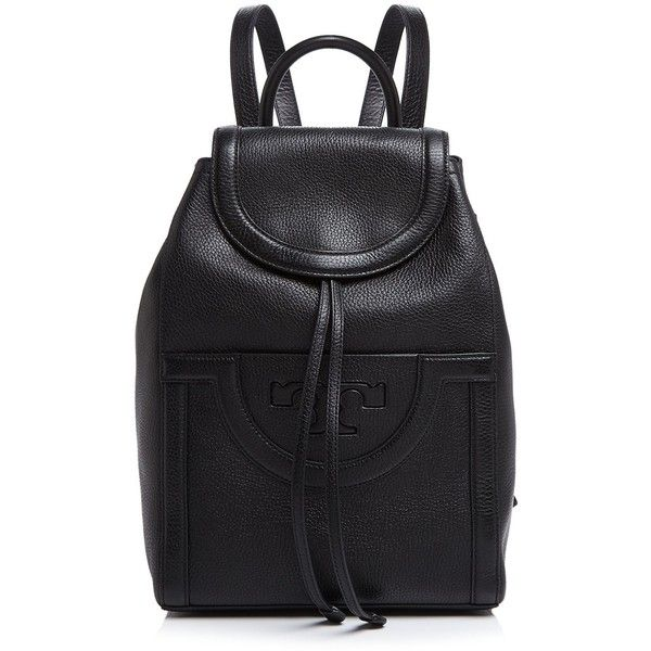 45c2683996d0 Tory Burch Serif T Backpack (£354) ❤ liked on Polyvore featuring bags