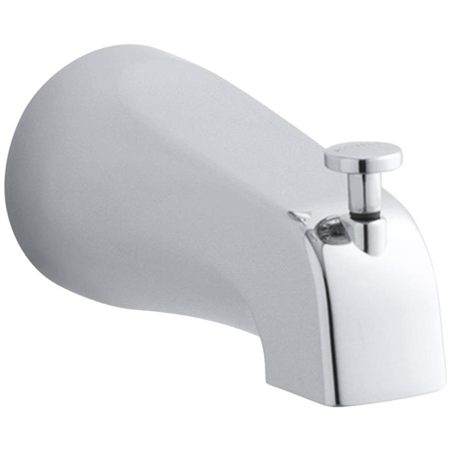 Kohler Chrome Tub Spout With Diverter At Lowes Com Polished