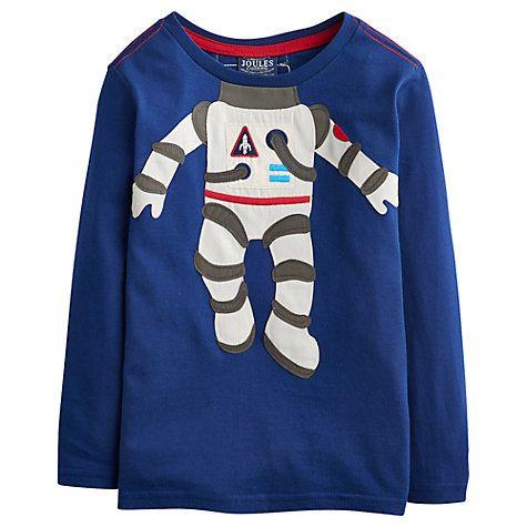 d979290eb Buy Little Joule Boys' Astronaut Long Sleeve Jersey Top Online at  johnlewis.com