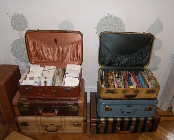 ideas for Old Suitcase Vintage Luggage | Tags: Custom Armoire ...