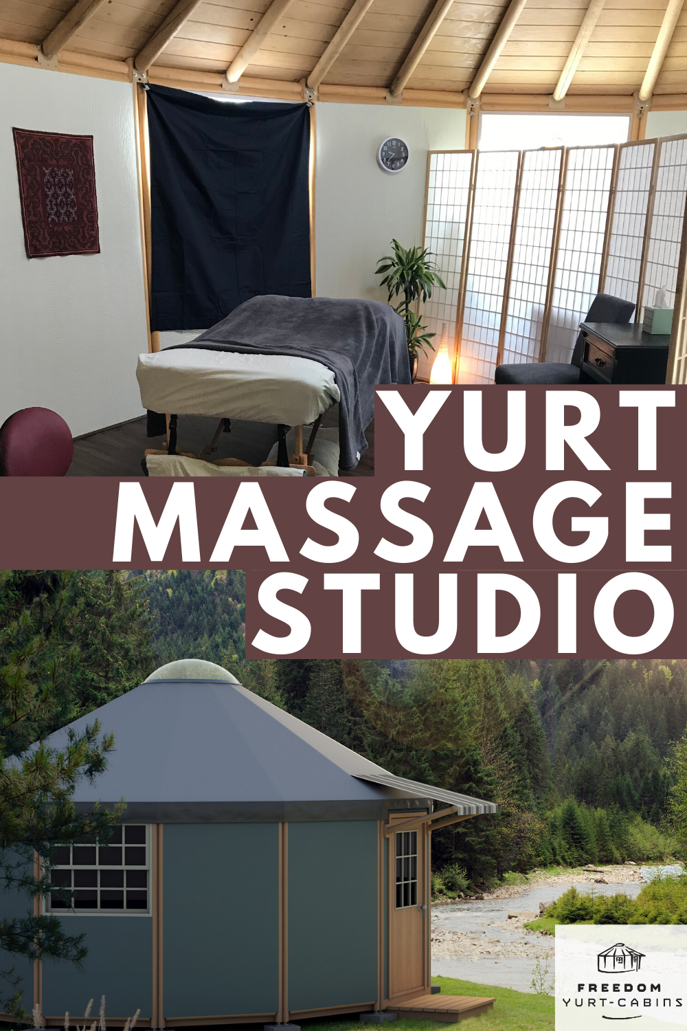 Yurt Cabins For Business Freedom Yurt Cabins Massage Room Massage Therapy Rooms Massage Studio