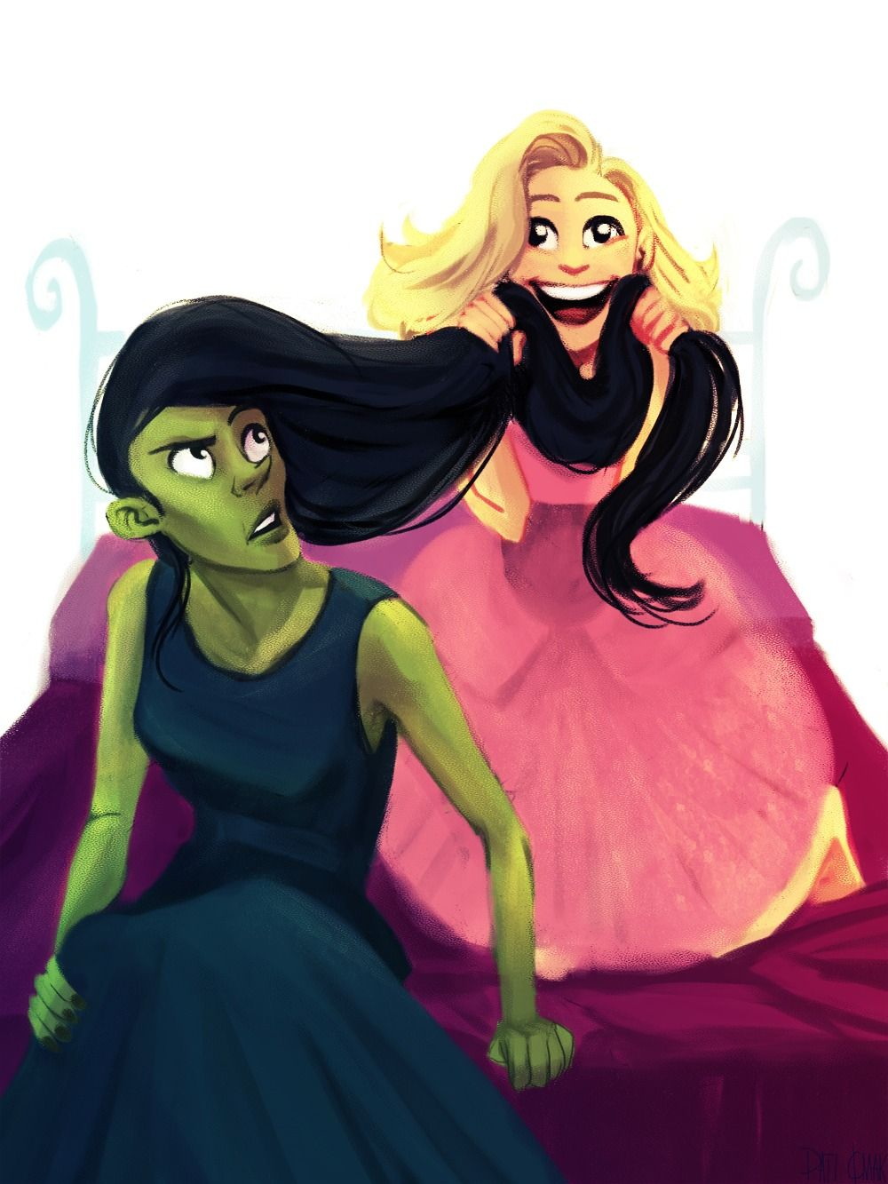 Illustration wicked elphaba glinda Character Design artists on ...